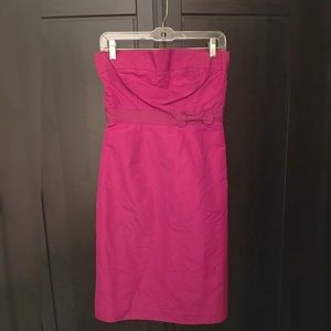 J Crew - Silk Pink Strapless Sassy Dress -like NEW